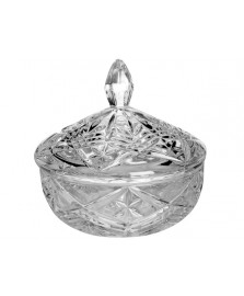 Bomboniere cristal com tampa 15 cm taurus bohemia