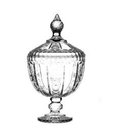 Bomboniere com pé de cristal 28 cm l hermitage