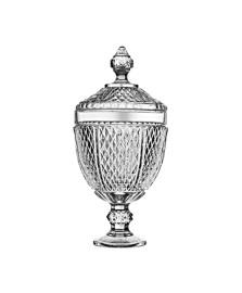 Bomboniere de vidro 35 cm diamond pasabahce