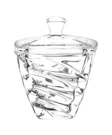 Bomboniere  de cristal com tampa facet bohemia