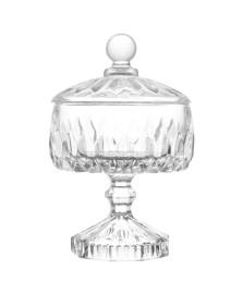 Bomboniere Decorativa de Cristal Louise Transparente 14 x 22,5 cm Wolff