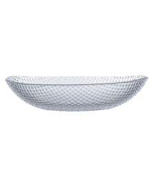 Saladeira oval 32 cm transparente tiffany