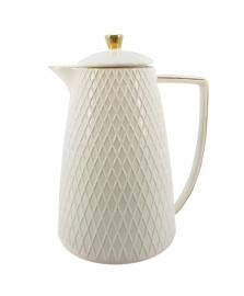 Bule térmico 900 ml cerâmica ouro lhermitage