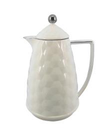 Bule térmico 900 ml cerâmica prata lhermitage