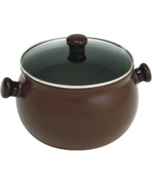 Caçarola ceramica alta marrom 24 cm ceraflame