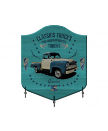 Cabideiro em madeira classic trucks azul