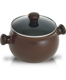 Caçarola alta ceramica marrom 18 cm ceraflame