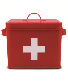 Caixa aid help vermelha 18 cm week