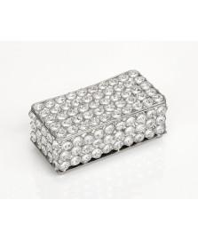 Caixa cristal retangular 18,5 cm world importados