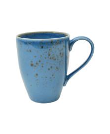 Jogo 06 canecas nature blue em porcelana 300 ml lhermitage