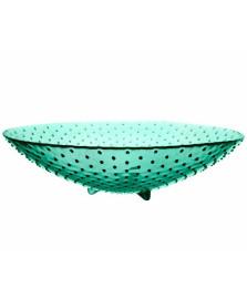 Centro de mesa 40 cm verde punto art home