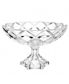 Centro de mesa c/ pé 32 cm vidro mellione