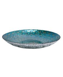 Centro de mesa decorativo de vidro peacock 40 cm lyor