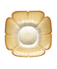 Bowl folhagem em vidro cor ouro 25 x 9,5 cm