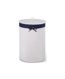 Cesto de roupa 35 x 50 cm branco e jeans bencafil