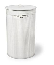 Cesto de roupa branco tecido 60 cm bencafil