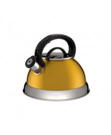 Chaleira colors 2.8 litros amarelo dourado euro