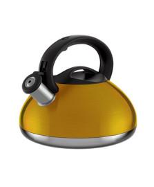 Chaleira colors 3 litros amarelo dourado euro