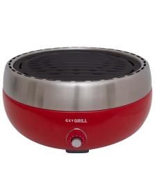 Churrasqueira portatil a carvão vermelha get grill