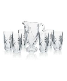 Jogo 06 copos e jarra 1.2 l vidro hauskraft