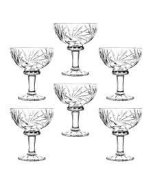 Conjunto 6 taças para sobremesa de cristal prisma 260ml lyor
