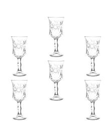 Conjunto 6 taças de cristal de chumbo para vinho branco wolff