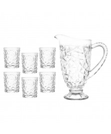 Conjunto de jarra e 6 copos de vidro g-horse