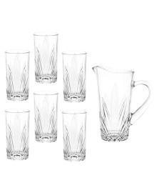 Conjunto de jarra e 6 copos de vidro miami lyor