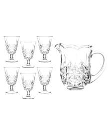 Conjunto de jarra e 6 taças de vidro iceland transparente bon gourmet