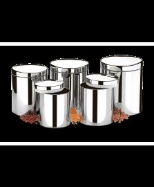 Conjunto de 5 potes para mantimentos brinox