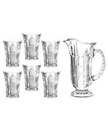 Conjunto de jarra e 6 copos gales em cristal ecologico l'hermitage