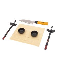 Conjunto para sushi 8 peças de cerâmica e bambu lyor