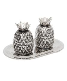 Conjunto saleiro e pimenteiro zamac pineapple lyor