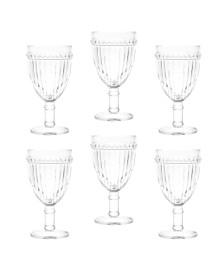 Conjunto 6 taças para água de vidro empire 320 ml lyor