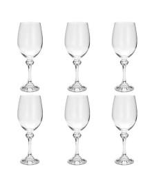 Conjunto 06 tacas de cristal ecologico para vinho tinto elisa 350 ml bohemia
