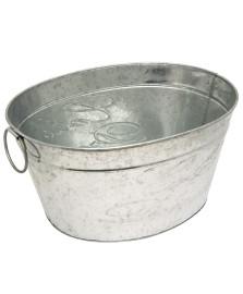 Cooler para festa oval em metal galvanizado 42.7x33cm dynasty
