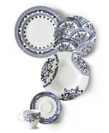Jogo jantar 24 peças costanza pascolato azulejos