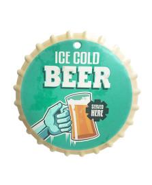 Descanso de panela 20 cm cerâmica ice cold beer