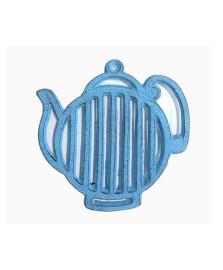 Descanso de panela de ferro bule stripes azul
