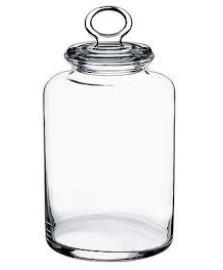 Porta Mantimentos Kitchen Com Tampa Em Vidro 2.6l 10x26cm Transparente Pasabahce