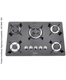 Cooktop 5 queimadores gourmet cadence