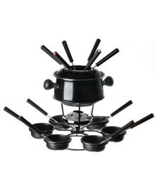 Conjunto fondue medio com base giratoria 22 pecas preto