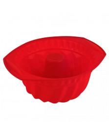 Forma para bolo silicone vermelha euro