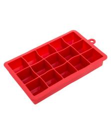 Forma para gelo de silicone vermelha euro home
