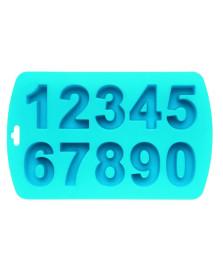 Forma para gelo em silicone números mart