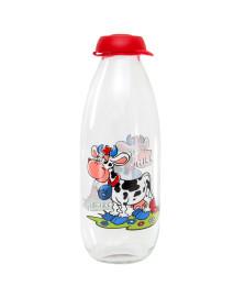Garrafa para leite de vidro cow 1l heverin