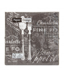 Guardanapo de papel bon apeti 20 uni paper + design