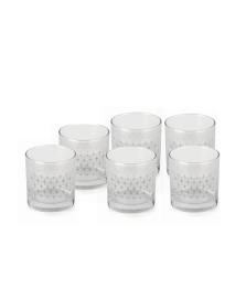 Jogo 06 copos whisky vidro lins forma