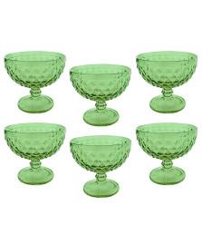 Jogo 06 taças sobremesa verre verde mimo