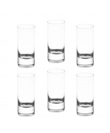 Jogo 6 copos de cristal ecológico set-bar favorit 65 ml bohemia style